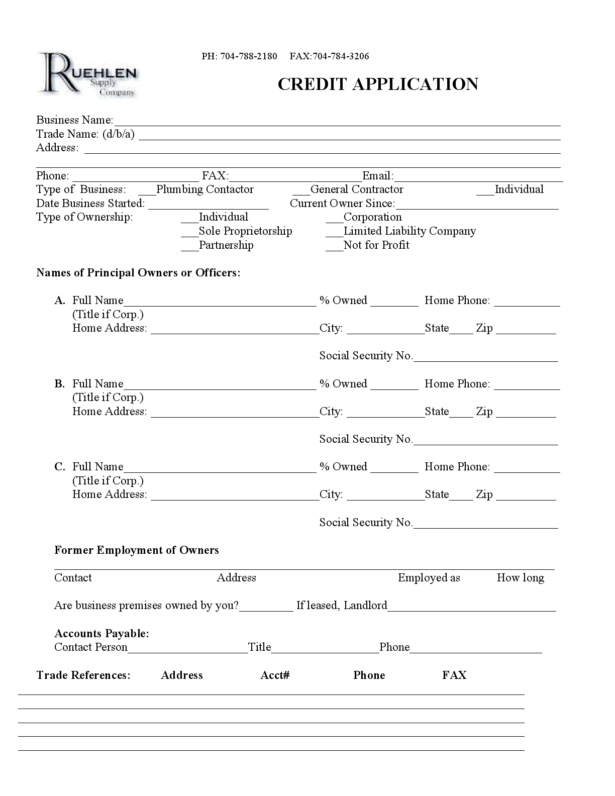 Tractor Supply Personal Credit Card Form Fillable Pdf Template Download Here